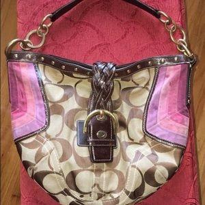 Signature Coach hobo handbag